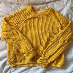 Fisherman's cropped sweater